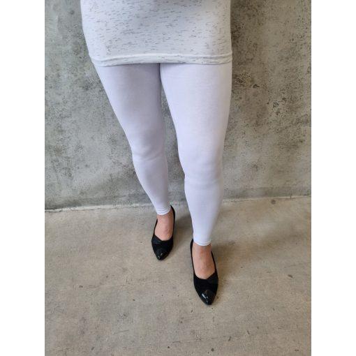 Fehér alakformáló leggings, L-6XL-ig
