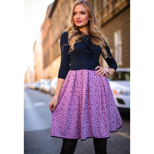 Apró virágmintás ruha, XL méret